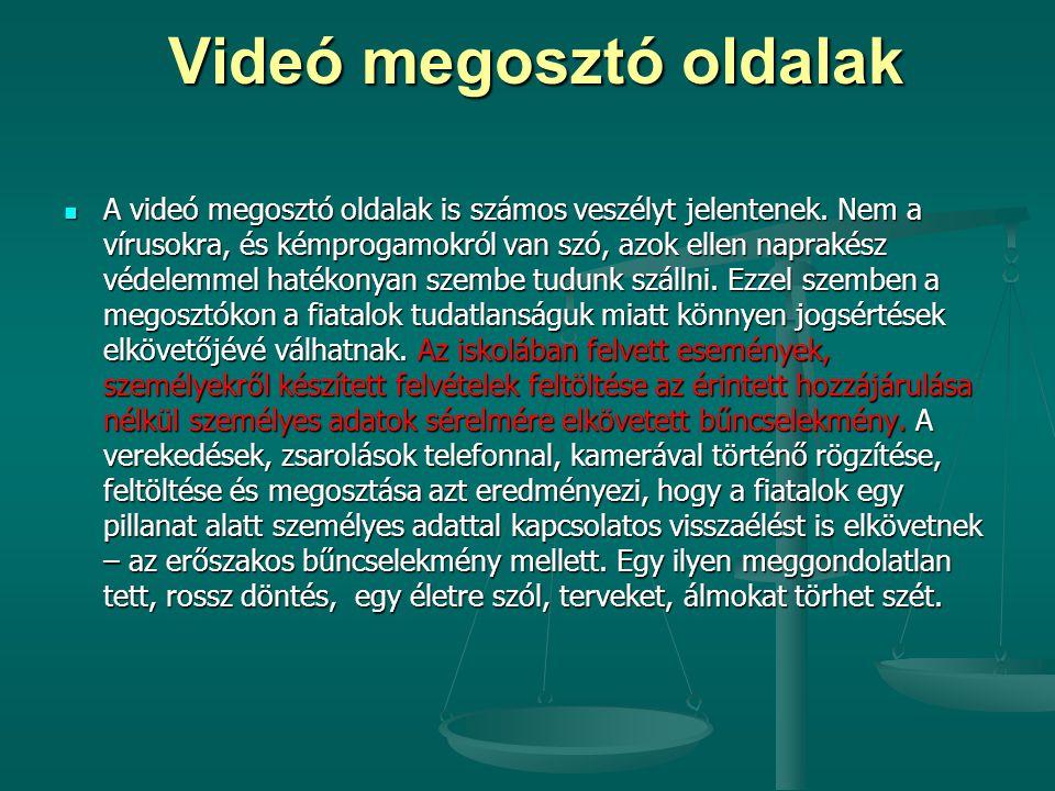 Videó megosztó oldalak