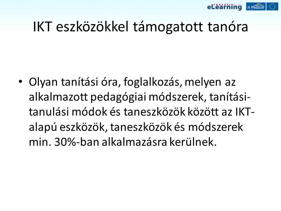IKT eszközökkel támogatott tanóra