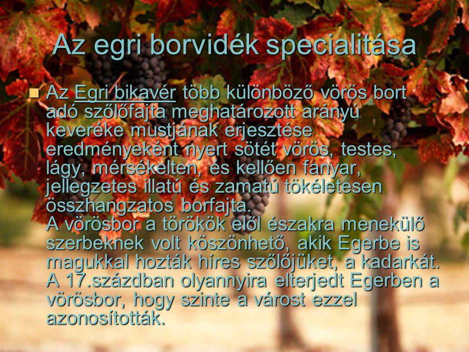 Az egri borvidék specialitása