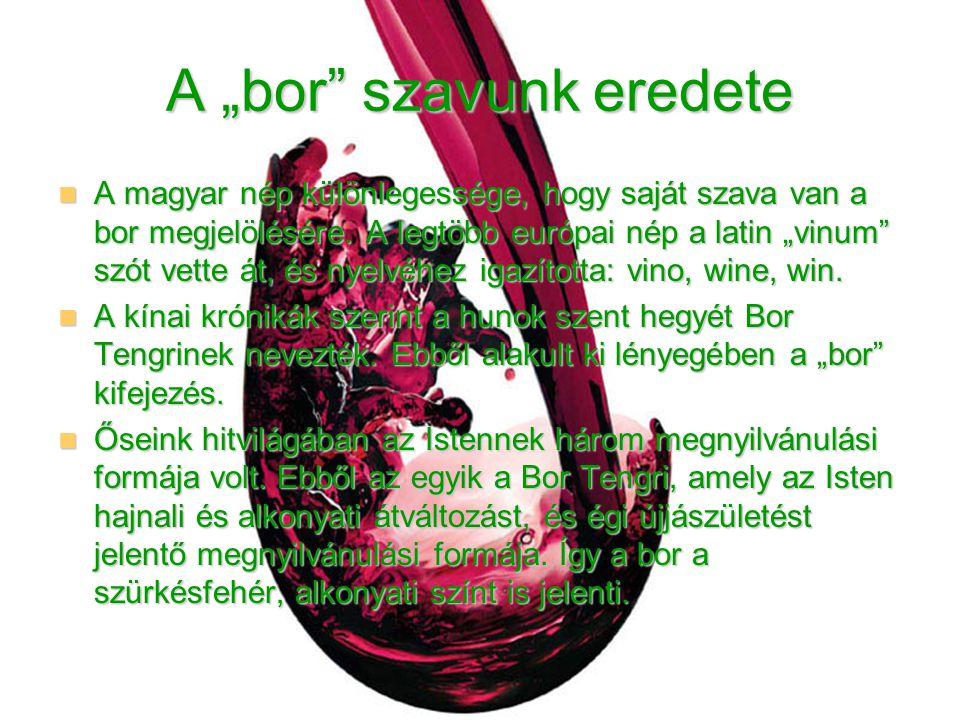 """A """"bor szavunk eredete"""