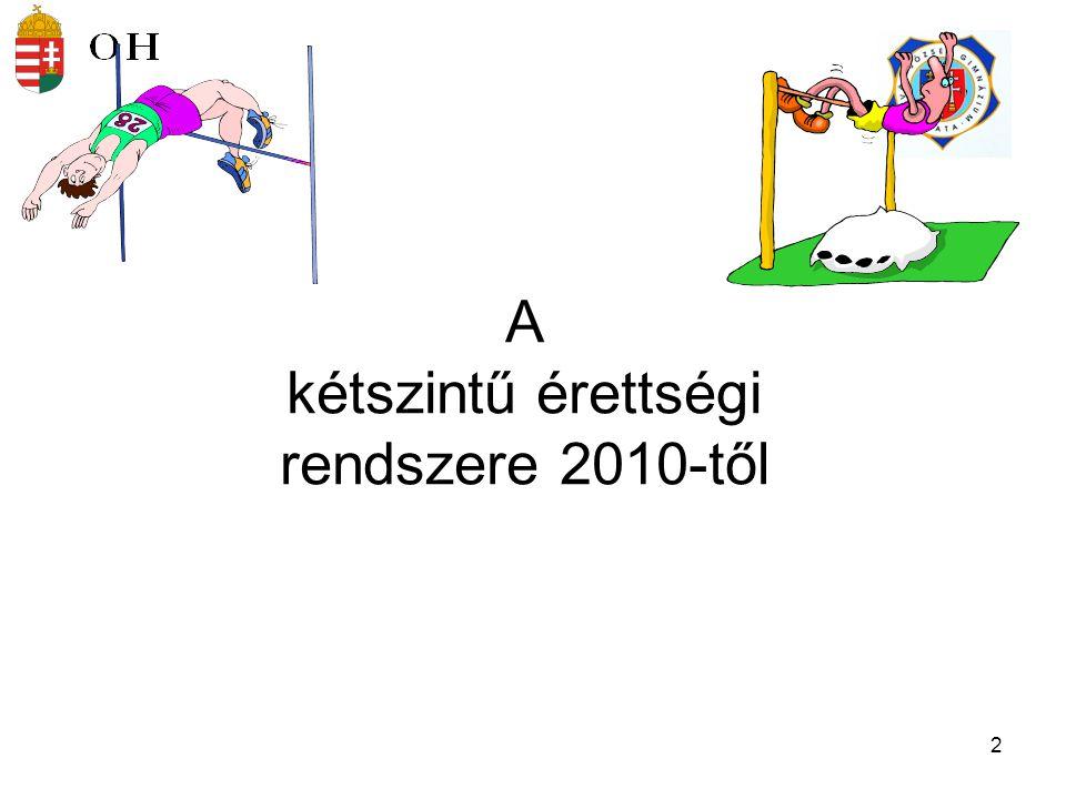 A kétszintű érettségi rendszere 2010-től