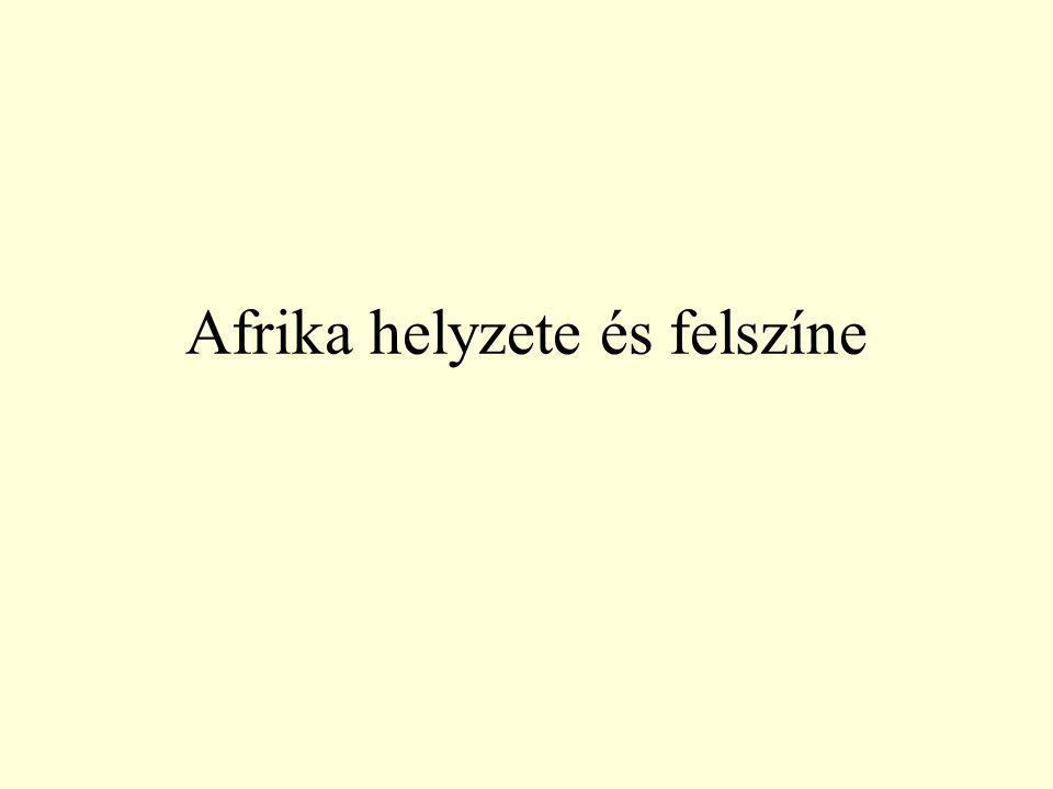 Afrika helyzete és felszíne