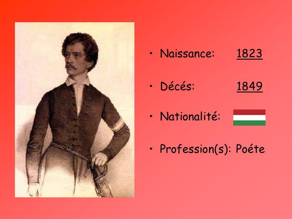Naissance: 1823 Décés: 1849 Nationalité: Profession(s): Poéte