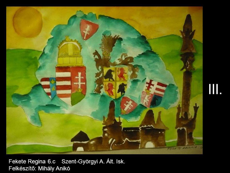 III. Fekete Regina 6.c Szent-Györgyi A. Ált. Isk.