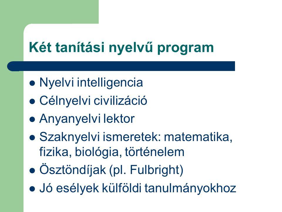 Két tanítási nyelvű program