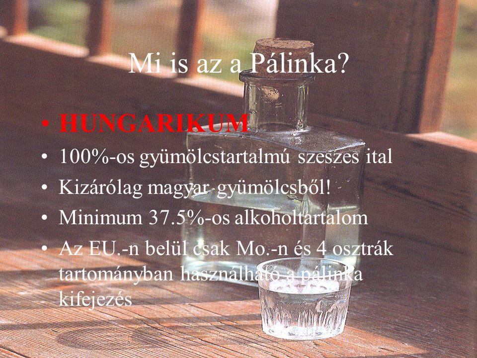 Mi is az a Pálinka HUNGARIKUM 100%-os gyümölcstartalmú szeszes ital