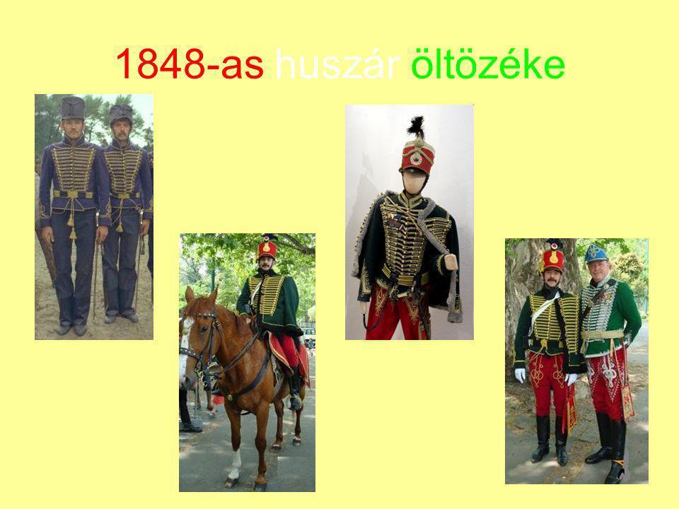 1848-as huszár öltözéke