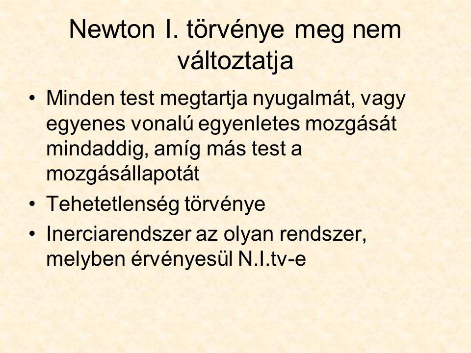 Newton I. törvénye meg nem változtatja