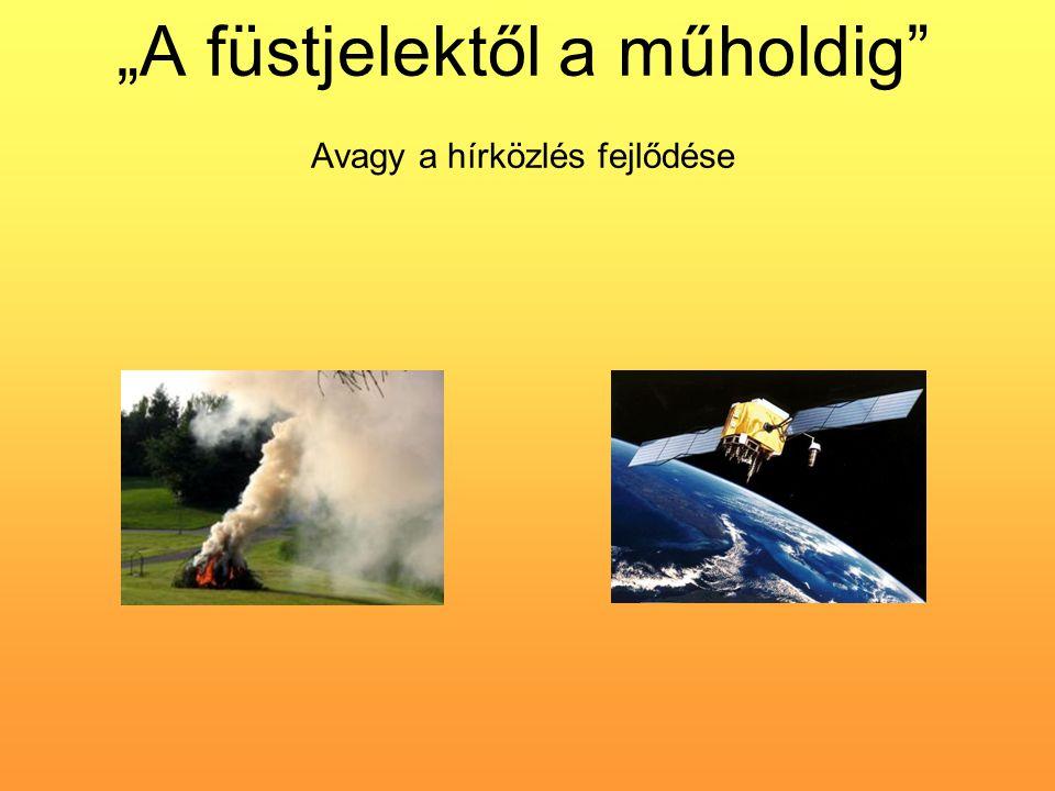 """""""A füstjelektől a műholdig Avagy a hírközlés fejlődése"""