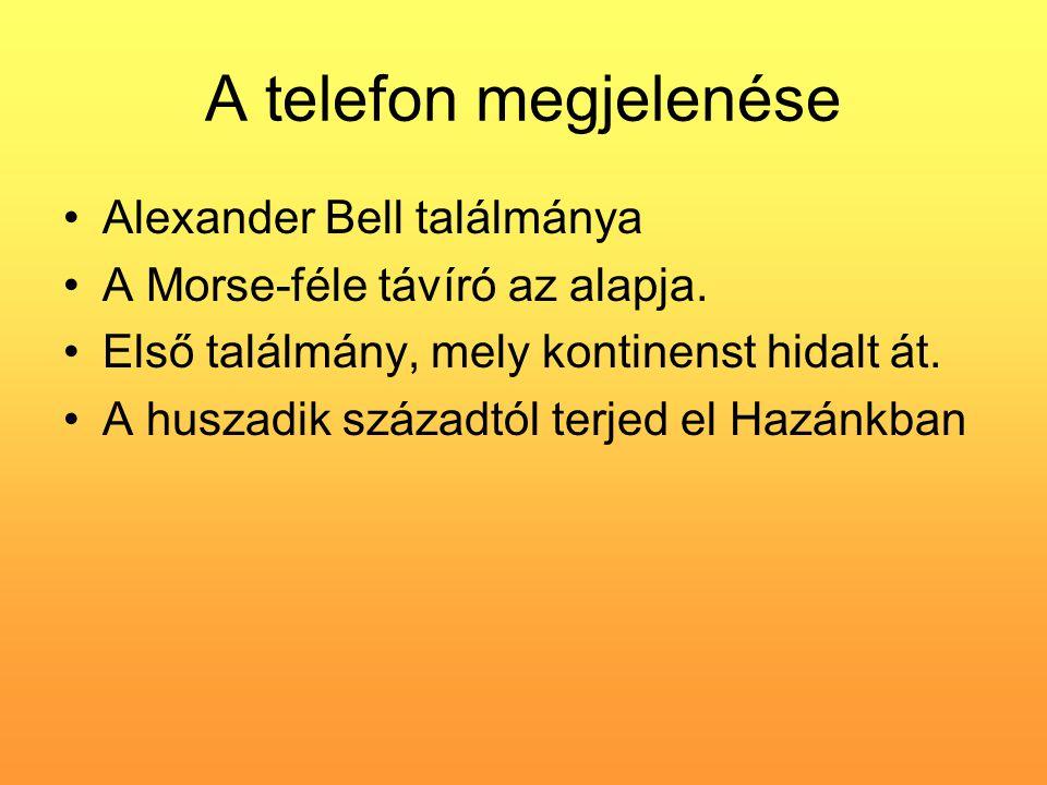 A telefon megjelenése Alexander Bell találmánya