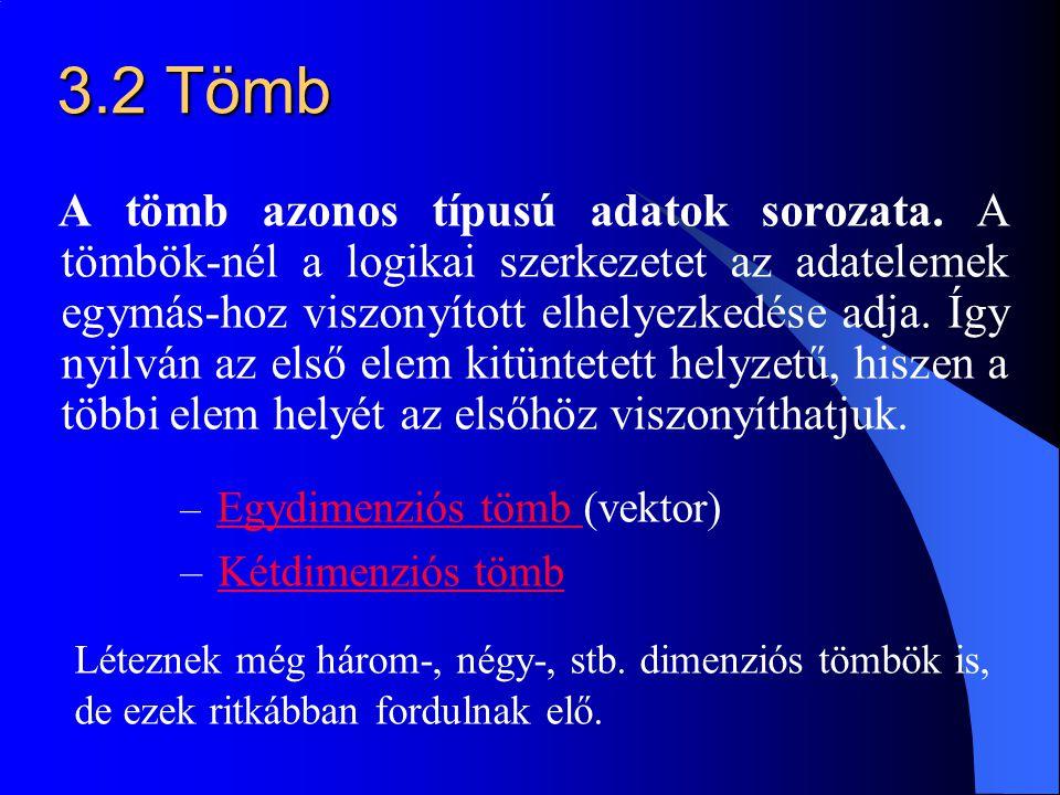 3.2 Tömb