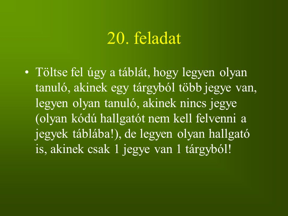 20. feladat