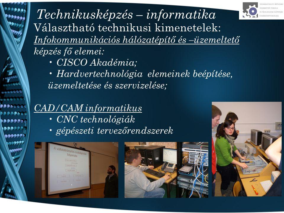 Technikusképzés – informatika