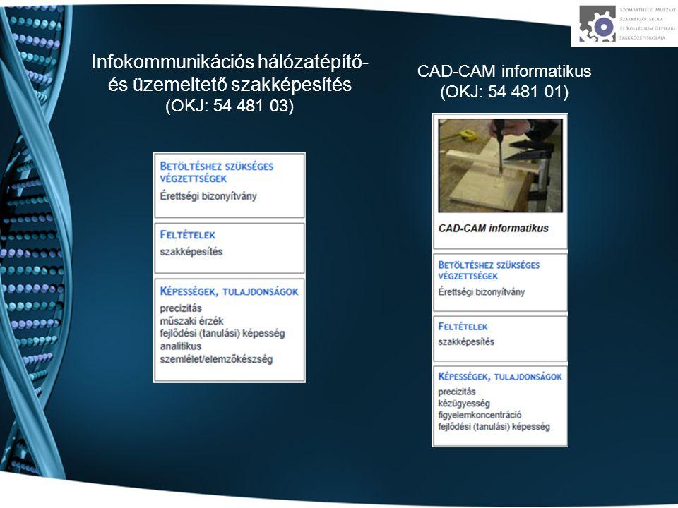 Infokommunikációs hálózatépítő- és üzemeltető szakképesítés (OKJ: 54 481 03)