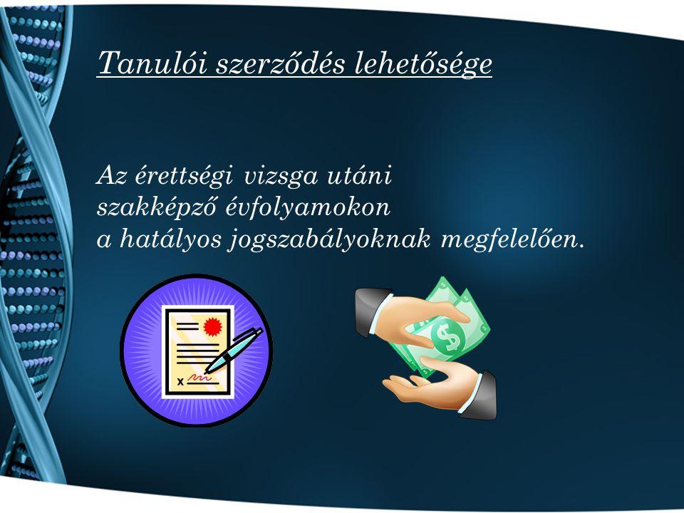 Tanulói szerződés lehetősége