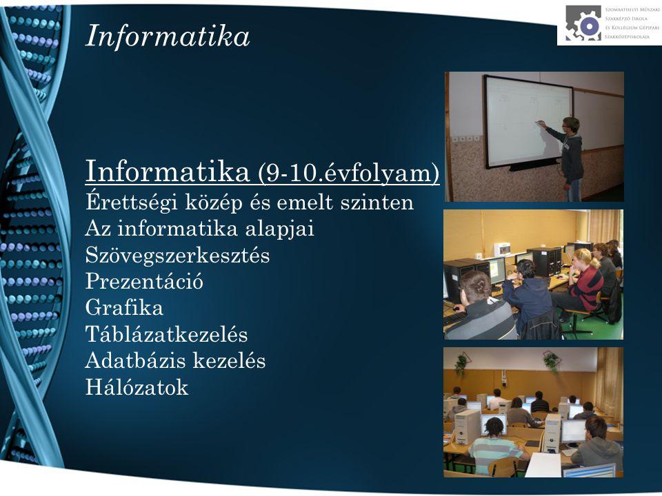 Informatika (9-10.évfolyam)