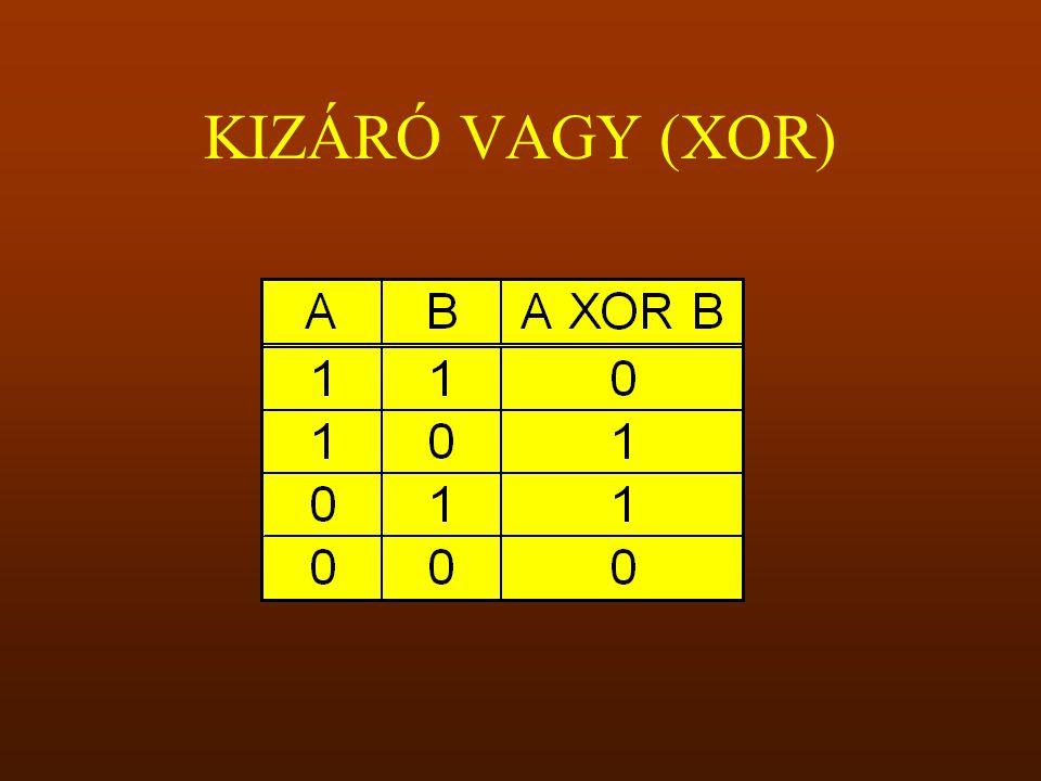 KIZÁRÓ VAGY (XOR)