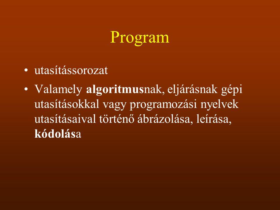 Program utasítássorozat