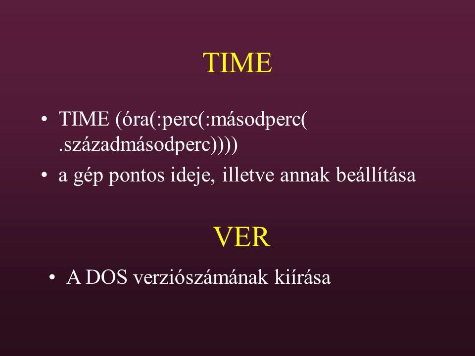 TIME VER TIME (óra(:perc(:másodperc( .századmásodperc))))