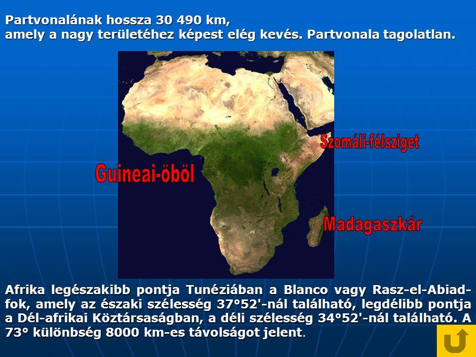 Szomáli-félsziget Guineai-öböl Madagaszkár