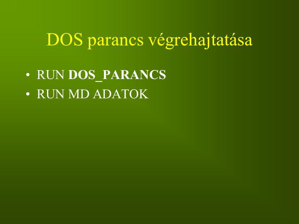 DOS parancs végrehajtatása