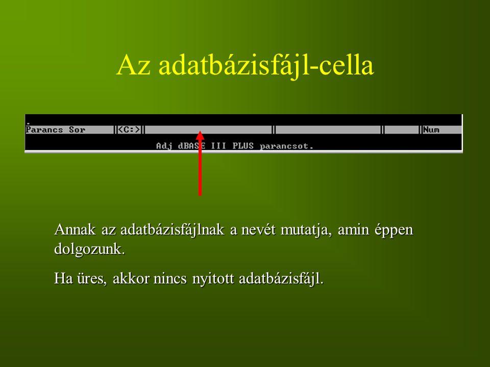 Az adatbázisfájl-cella