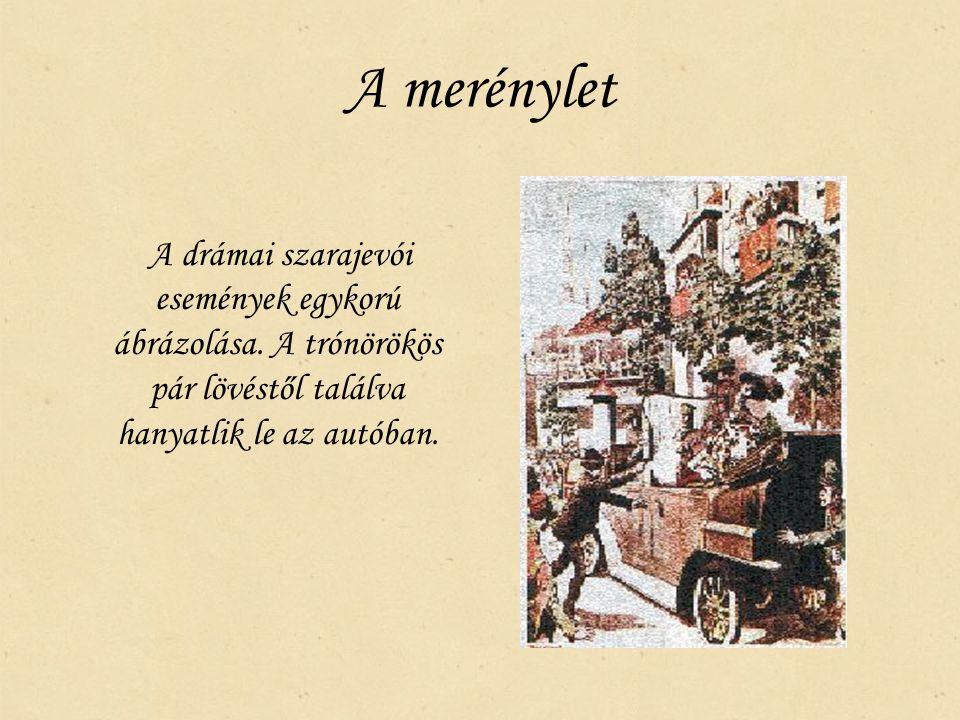 A merénylet A drámai szarajevói események egykorú ábrázolása.