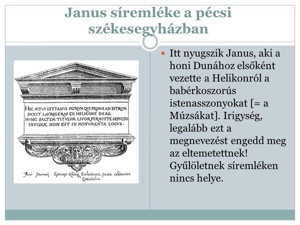 Janus síremléke a pécsi székesegyházban