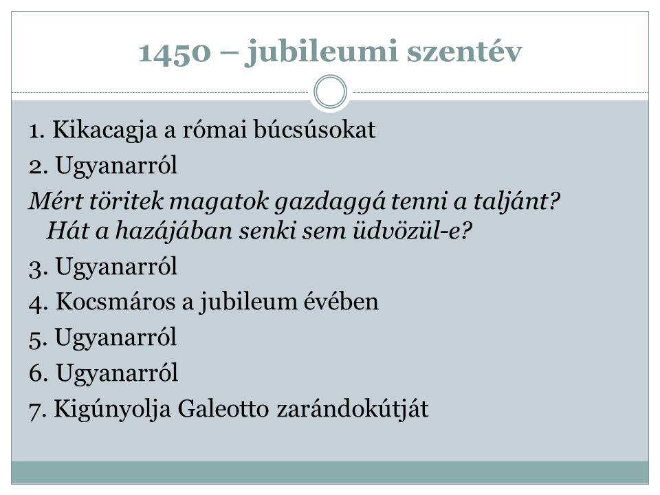 1450 – jubileumi szentév