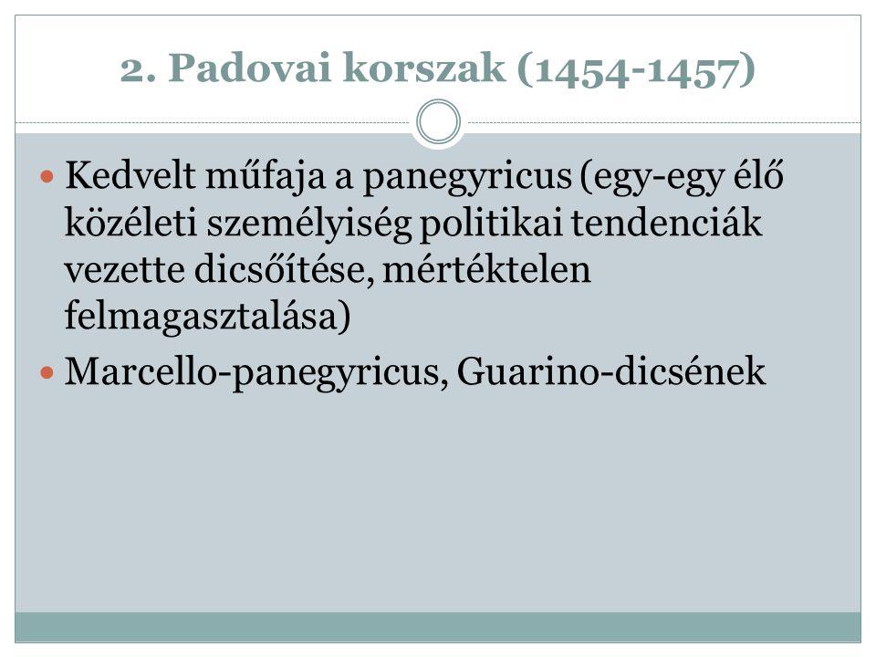2. Padovai korszak (1454-1457)