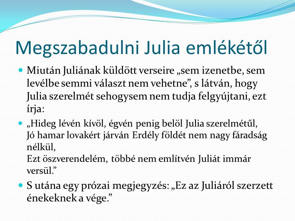Megszabadulni Julia emlékétől