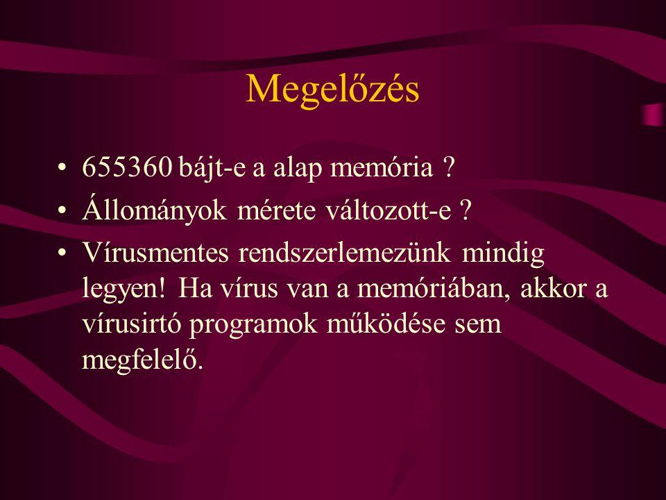 Megelőzés 655360 bájt-e a alap memória