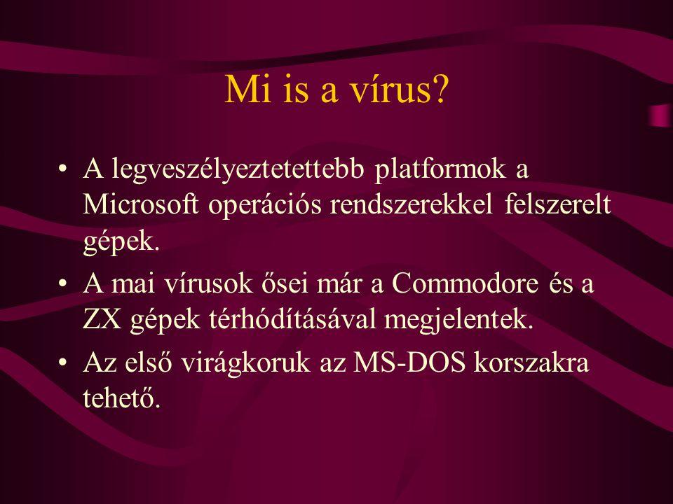 Mi is a vírus A legveszélyeztetettebb platformok a Microsoft operációs rendszerekkel felszerelt gépek.