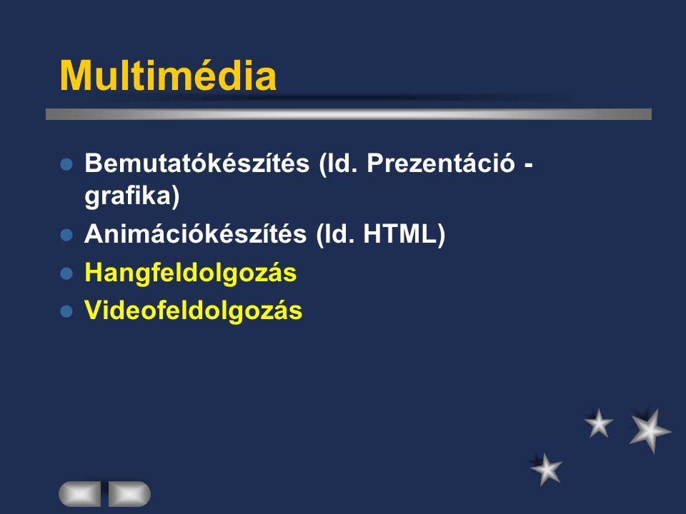 Multimédia Bemutatókészítés (ld. Prezentáció - grafika)