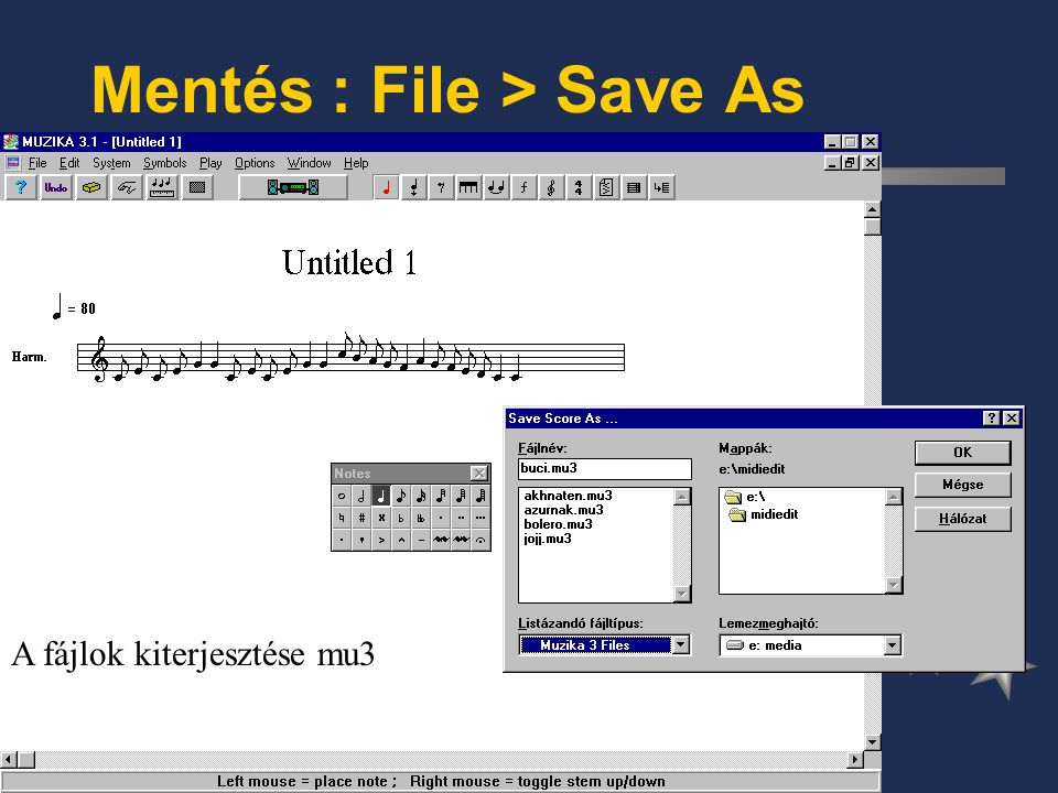 Mentés : File > Save As