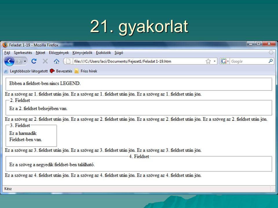21. gyakorlat