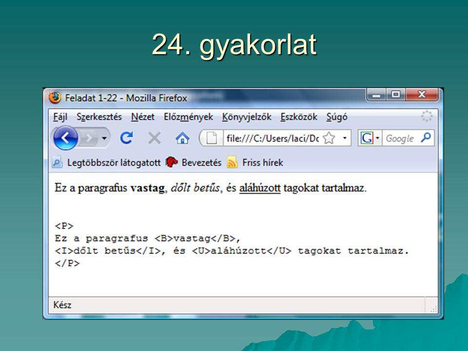 24. gyakorlat