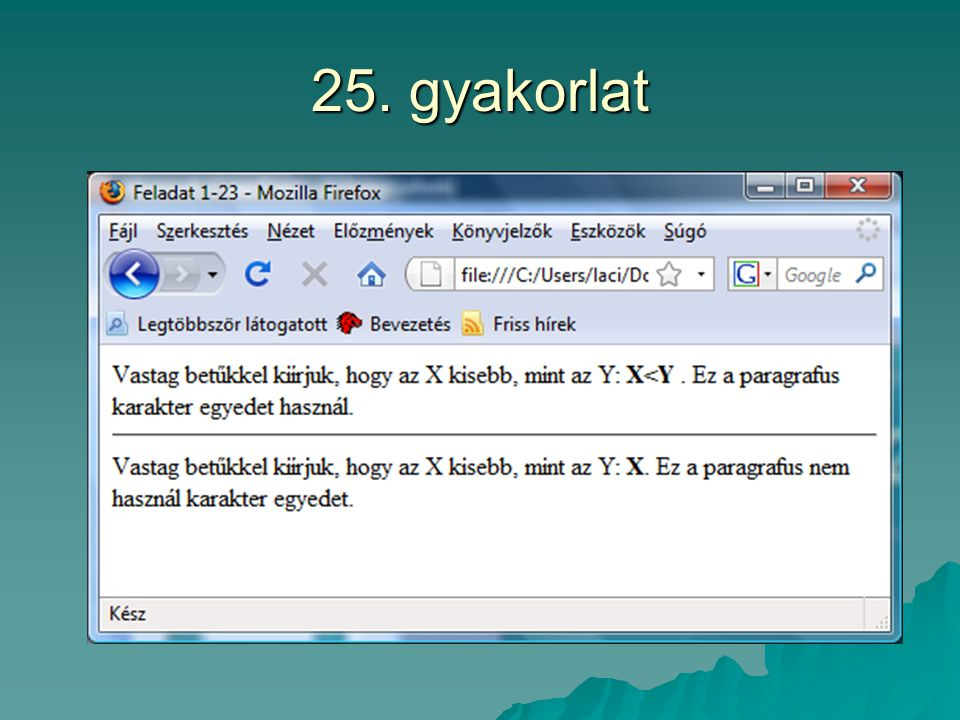 25. gyakorlat