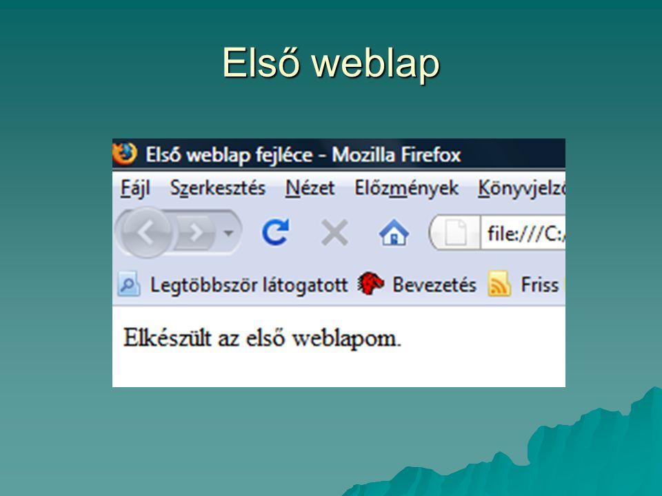 Első weblap