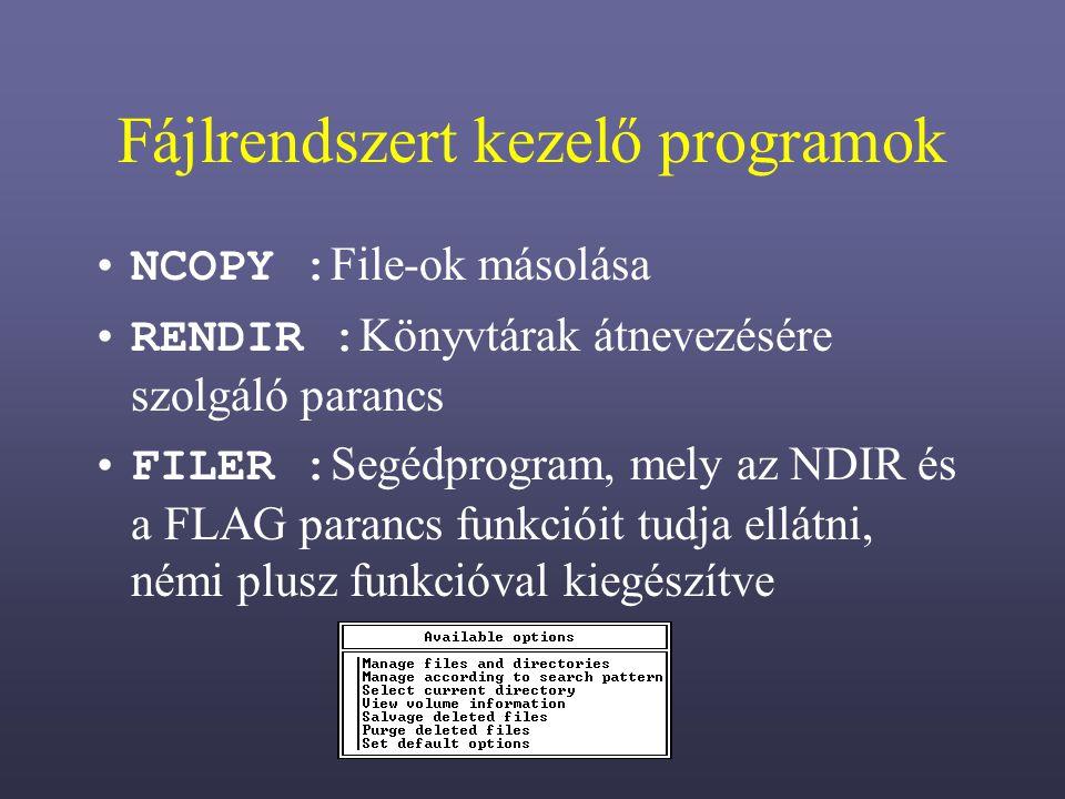 Fájlrendszert kezelő programok