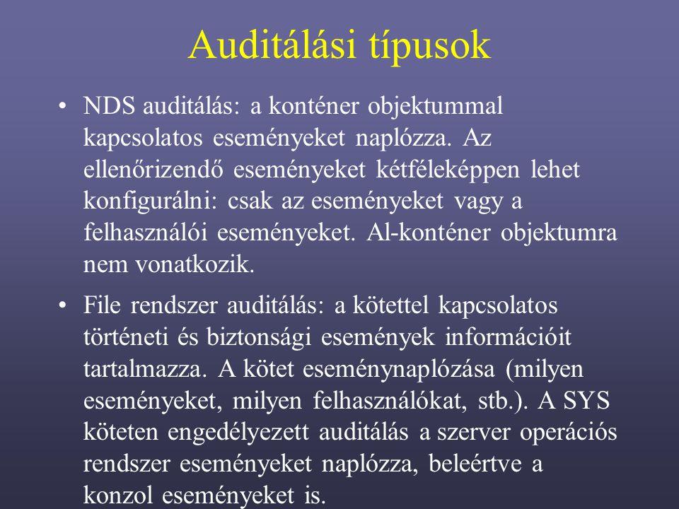 Auditálási típusok