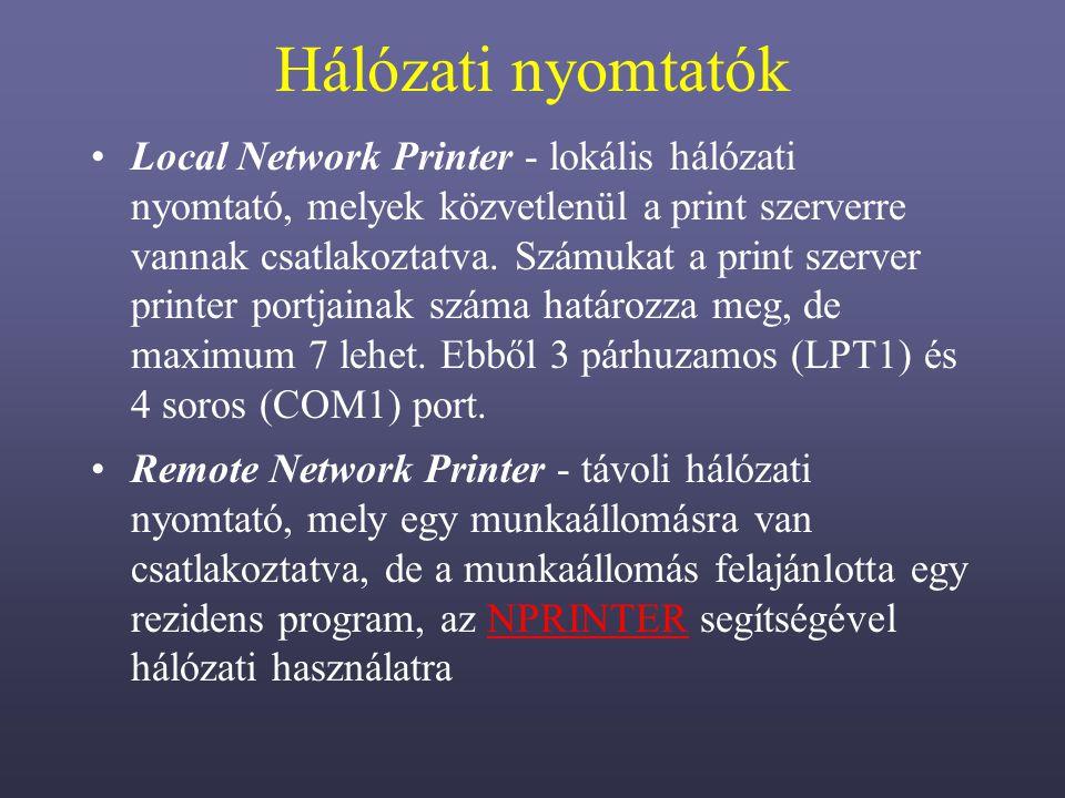 Hálózati nyomtatók