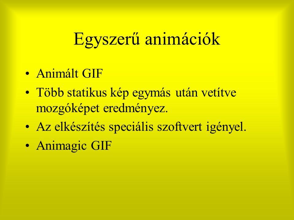 Egyszerű animációk Animált GIF