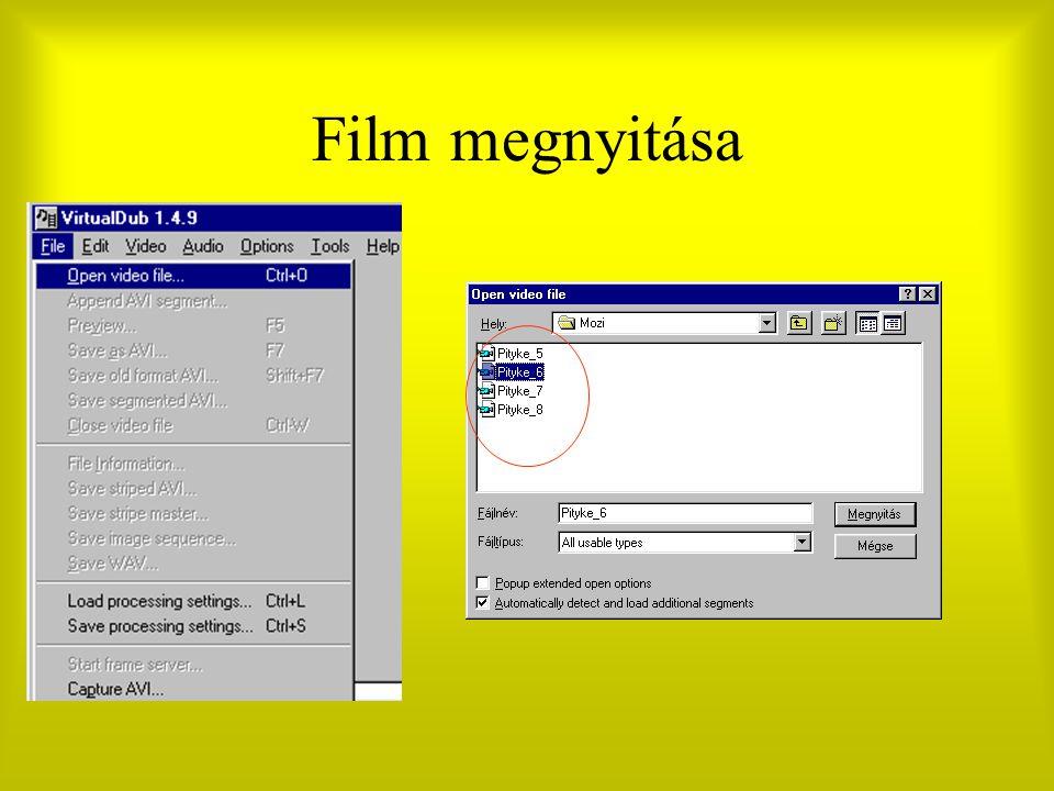 Film megnyitása