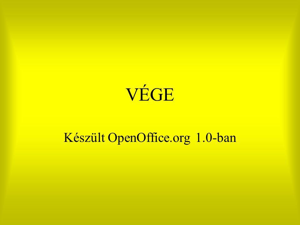Készült OpenOffice.org 1.0-ban