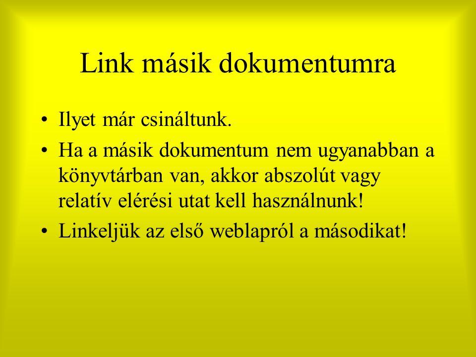 Link másik dokumentumra