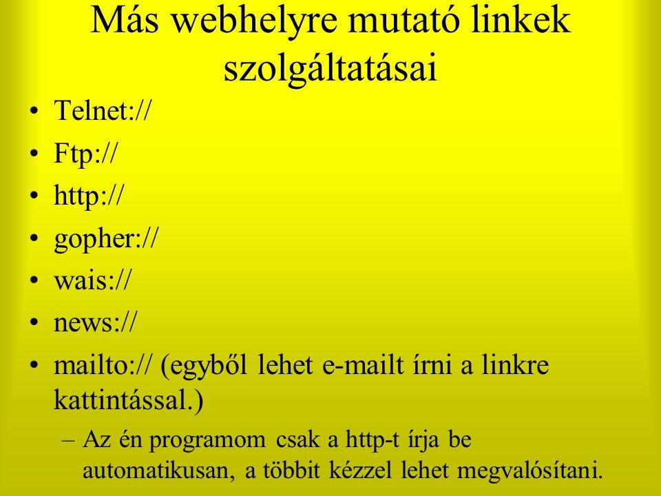 Más webhelyre mutató linkek szolgáltatásai