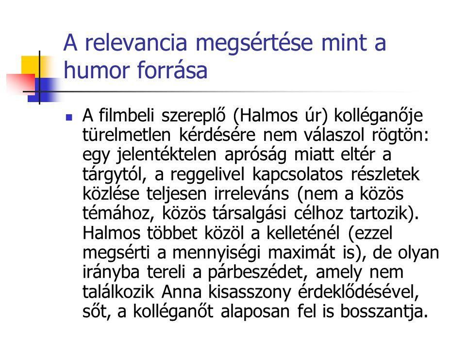 A relevancia megsértése mint a humor forrása