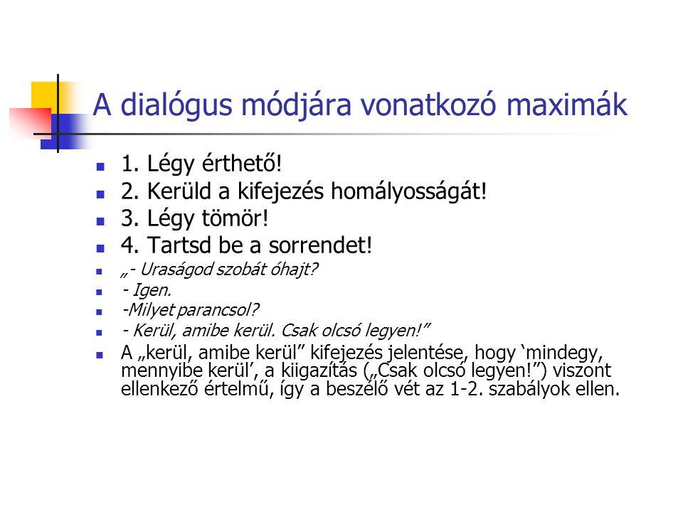 A dialógus módjára vonatkozó maximák