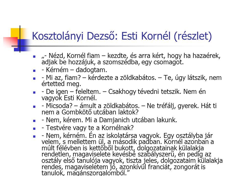 Kosztolányi Dezső: Esti Kornél (részlet)